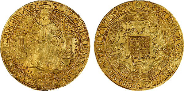Antiker Gold Sovereign von Elizabeth I, England