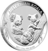 Koala 1/2 oz Silber 2011 - Motivseite
