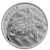 Turtle 1 oz Silber 2015 - Motivseite