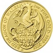 Queen's Beasts Dragon 1 oz Gold 2017 - Motivseite