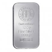 Silberbarren 100 Gramm - LBMA zertifiziert