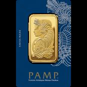 Goldbarren 100 Gramm Fortuna - eingeschweißt in CertiPAMP™ Blisterkarte