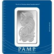 Silberbarren 100 g Fortuna PAMP Suisse - CertiPAMP™ Blistercard
