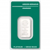 Platinbarren Argor-Heraeus 10 Gramm - Vorderseite Blister