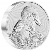 Kookaburra 10 oz Silber 2020 - Motivseite