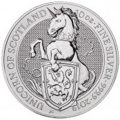Queen's Beasts Unicorn 10 oz Silber 2019 - Motivseite