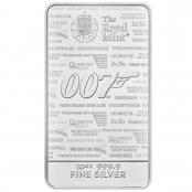 Silberbarren James Bond 10 oz  - Motivseite