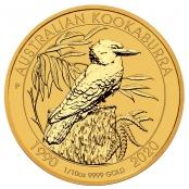 Kookaburra 1/10 oz Gold 2020 - Prägefrisch direkt von der Perth Mint