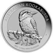 Kookaburra 1/10 oz Platin 2021 - Motivseite der attraktiven Münze der Perth Mint