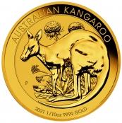 Kangaroo 1/10 oz Gold 2021 - Prägefrisch direkt von der Perth Mint