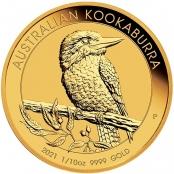 Kookaburra 1/10 oz Gold 2021 - Prägefrisch direkt von der Perth Mint