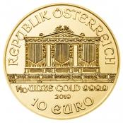 Philharmoniker 1/10 oz Gold - Wertseite
