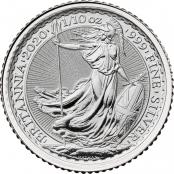 Britannia 1/10 oz Silber 2020 - Motivseite