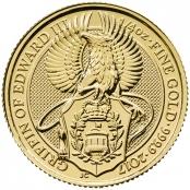 Queen's Beast Griffin 1/4 oz Gold 2017 - Motivseite