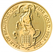 Queen's Beast Yale 1/4 oz Gold 2019 - Motivseite