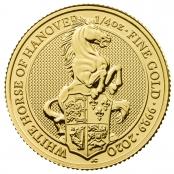 Queen's Beast White Horse 1/4 oz Gold 2020 - Motivseite