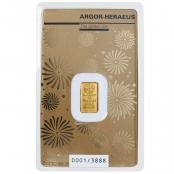 GGoldbarren Argor-Heraeus 1 Gramm Maus - Der 1 g Goldbarren Maus von Argor-Heraeus wird Prägefrisch, originalverpackt und in Folie eingeschweißt geliefert. - offizielle Zertifizierung der LBMA
