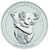 Koala 1 kg Silber 2020 - Motivseite