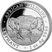Somalia Elefant 1 oz Silber 2020 - Motivseite