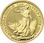 Britannia 1 oz Gold 2020 - Motivseite