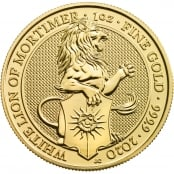 Queen's Beasts White Lion 1 oz Gold 2020 - Motivseite