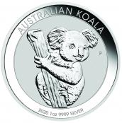 Koala 1 oz Silber 2020 - Motivseite