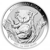 Koala 1 oz Silber 2021 - Motivseite