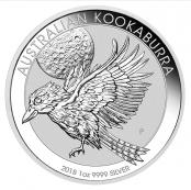 Kookaburra 1 oz Silber 2018 - Motivseite