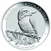 Kookaburra 1 oz Silber 2021 - Motivseite