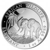 Somalia Elefant 1 oz Silber 2017 - Motivseite