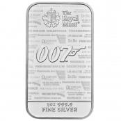 Silberbarren James Bond 1 oz  - Motivseite