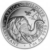 Somalia Elefant 1 oz Silber 2018 - Motivseite
