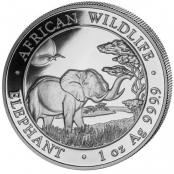 Somalia Elefant 1 oz Silber 2019 - Motivseite