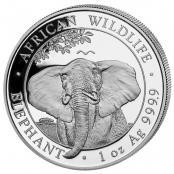Somalia Elefant 1 oz Silber 2021 - Motivseite