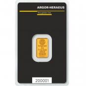 Goldbarren 2 Gramm Argor-Heraeus - LBMA zertifiziert