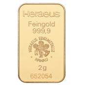 Goldbarren kinebar™ 2 Gramm Heraeus - LBMA zertifiziert