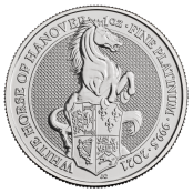 Queen's Beasts White Horse 1 oz Platin 2021 - Motivseite
