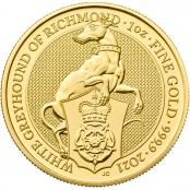 Queen's Beasts White Greyhound 1 oz Gold 2021 - Motivseite