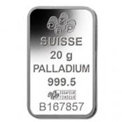 Palladiumbarren 20 Gramm PAMP Suisse - LBMA zertifiziert