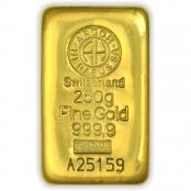 Goldbarren 250 Gramm Argor- LBMA zertifiziert