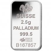 Palladiumbarren 2,5 Gramm PAMP Suisse - Motivseite