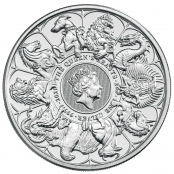 Queen's Beasts Completer Coin 2 oz Silber 2021 - Motivseite