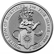 Queen's Beasts White Lion 2 oz Silver 2020 - Motivseite