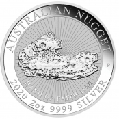Australian Nugget 2 oz Silber Hand of Faith  - Motivseite
