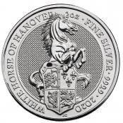 Queen's Beasts White Horse 2 oz Silber 2020 - Motivseite
