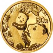 Panda 3 Gramm Gold 2021 - Panda Motiv
