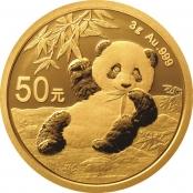 Panda 3 Gramm Gold 2020 - Panda Motiv