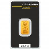 Goldbarren 5 Gramm Argor-Heraeus - LBMA zertifiziert