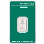Platinbarren Argor-Heraeus 5 Gramm - Vorderseite Blister
