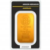 Goldbarren 50 Gramm Argor-Heraeus - LBMA zertifziert